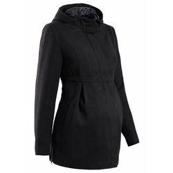 Płaszcz ciążowy z kapturem, z regulacją obwodu bonprix Krótki płaszcz ciąż czar