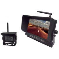 """Pozostałe car audio-video, Bezprzewodowy zestaw cofania z monitorem LED 7"""" cali HD oraz kamerą bezprzewodową 12V 24V"""