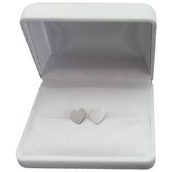 Kolczyki srebrne małe serca SK10M