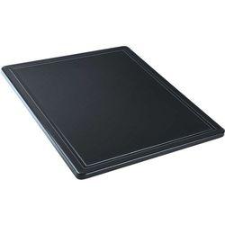 Deska do krojenia z wycięciem GN 1/2, czarna | STALGAST, 341327