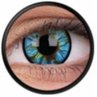 Soczewki kontaktowe, Soczewki kolorowe niebieskie BLUE STREAK Crazy Lens 2 szt.