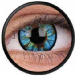 Soczewki kolorowe niebieskie BLUE STREAK Crazy Lens 2 szt.