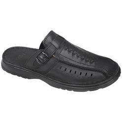 Klapki buty ŁUKBUT 954 Czarne - Czarny