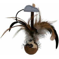 Trixie Piłka z piórami dla kota 15cm