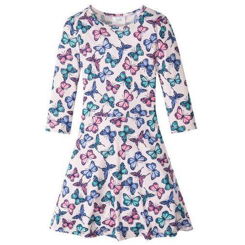 Sukienki dziecięce, Sukienka shirtowa dziewczęca bonprix bladoróżowy z nadrukiem