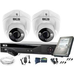 ZM11971 BCS zestaw monitoringu kamery 2szt. BCS-DMQE1500IR3-B BCS-XVR04014KE-II 1TB