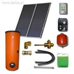 Zestaw solarny dla 2-3 osób 2xkolektory słoneczne POLSKIE meandryczne z absorberem Al/Cu+zbiornik 200l