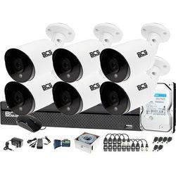 Zestaw do monitoringu 6 kamer BCS-TQ4203IR3-B Rejestrator BCS-XVR0801-III Dysk 1TB