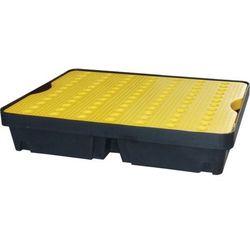 Wanienka wychwytowa z kratownicą, pojemność 40l, żółto-czarna