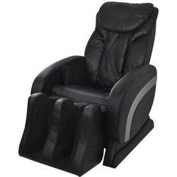 vidaXL Elektryczny fotel masujący ze sztucznej skóry, czarny Darmowa wysyłka i zwroty