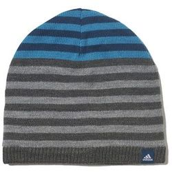 adidas Performance STRIPY Czapka dark grey heather/blue night/white