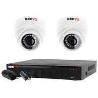 Zestawy monitoringowe, Monitoring 2 kamery zestaw: Rejestrator 4 kanałowy LV-XVR44SE + 2x Kamera LV-AL1M2FDPWH