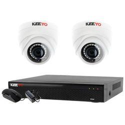 Monitoring 2 kamery zestaw: Rejestrator 4 kanałowy LV-XVR44SE + 2x Kamera LV-AL1M2FDPWH