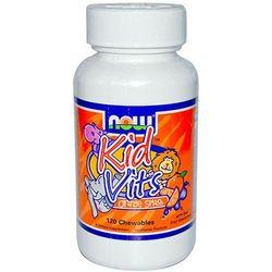 NOW FOODS KID VITS naturalne witaminy dla dzieci 120 pastylek do ssania - suplement diety