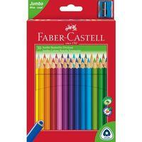 Kredki, Kredki Faber-Castell Jumbo trójkątne 30 kolorów + temperówka