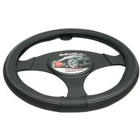 Pokrowce na kierownice, Pokrowiec na kierownicę 37-39,5 Luxury czarny