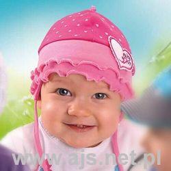 Czapka AJS 26-014 fioletowo-różowa 24h 44-46, fioletowo-różowy. AJS, 44-46