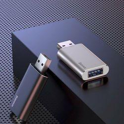 Baseus pamięć przenośna pendrive 64 GB z dodatkowym portem USB do ładowania srebrny (ACUP-C0S) - Srebrny \ 64