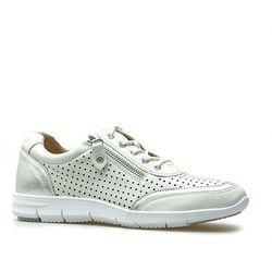 Sneakersy Caprice 9-23601-22 Białe/Srebrne lico