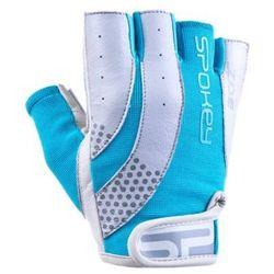 Rękawice fitness SPOKEY Zoe II Biało-niebieski (rozmiar S)