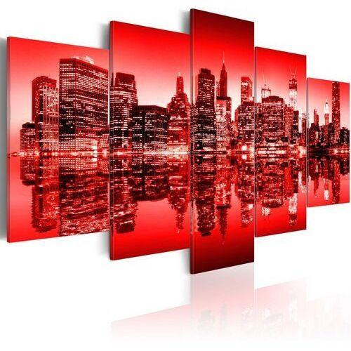 Obrazy, Obraz - Czerwona poświata nad Nowym Jorkiem - 5 częsci