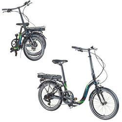 """Składany rower elektryczny Devron 20122 20"""" - model 2017, Czarny"""