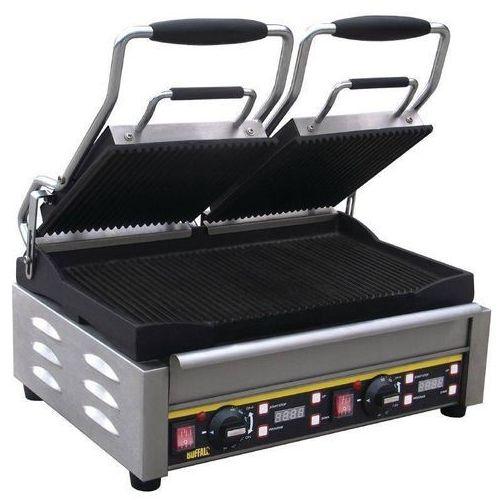 Grille gastronomiczne, Grill kontaktowy żeliwny podwójny ryflowany | 2900W