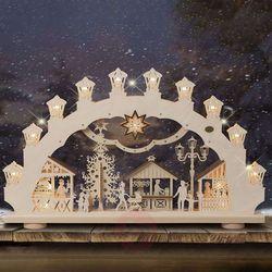 Świecznik jarmark bożonarodzeniowy 3D, 2 motywy