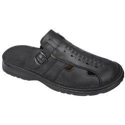Klapki buty ŁUKBUT 965 Czarne - Czarny