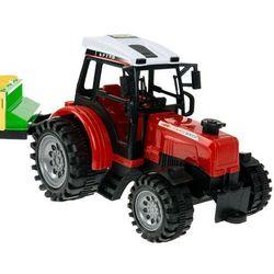 Zestaw 2 traktorów z maszynami - przyczepa, prasa