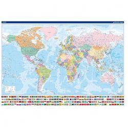 Mapa polityczna - Świat, mapa magnetyczna