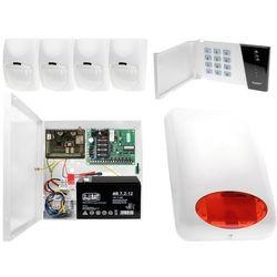 System alarmowy z GSM: Płyta główna CA-4 VP + Manipulator CA-4 VKLED + 4x Czujnik ruchu + Moduł GSM + Akcesoria