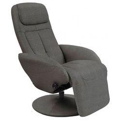 Wypoczynkowy obrotowy fotel rozkładany Timos 2X - popielaty