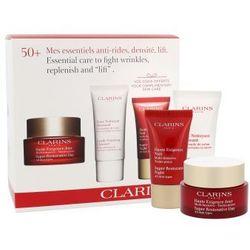 Clarins Super Restorative zestaw Daily skin care 50 ml + Cleasing foam 30 ml + Night skin care 15 ml dla kobiet