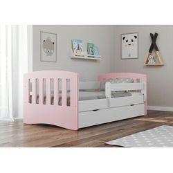 Łóżko dziecięce, barierka ochronna, classic mix, różowy, biały, mat