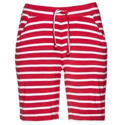 Bermudy shirtowe bonprix czerwony w paski