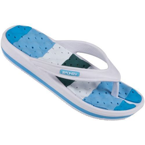 Pozostałe sporty wodne, Klapki basenowe SPOKEY Medusa Niebiesko-Biały (rozmiar 37)