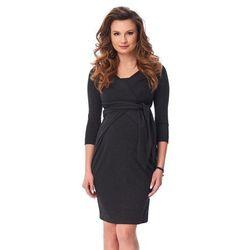 ubrania ciążowe Sukienka ciążowa Holly New Antracyt Piękny Brzuszek