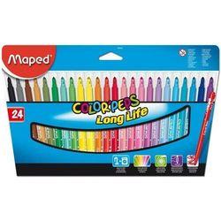 Flamastry Colorpeps, trójkątne. 24 kolory