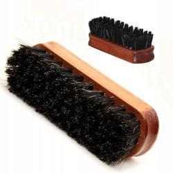 Szczotka do butów coccine z końskiego włosia 12 cm
