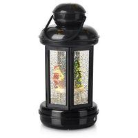 Ozdoby świąteczne, Błyszcząca latarnia dekoracyjna Cosy LED czarna