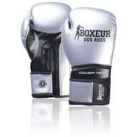Rękawice do walki, Rękawice bokserskie BOXEUR BXT-5195 Srebrno-czarny (14 oz) DARMOWY TRANSPORT