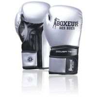 Rękawice do walki, Rękawice bokserskie BOXEUR BXT-5195 Srebrno-czarny (14 oz)