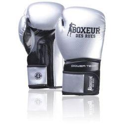 Rękawice bokserskie BOXEUR BXT-5195 Srebrno-czarny (14 oz) DARMOWY TRANSPORT