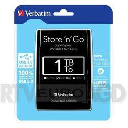 Verbatim Store'n'Go 1TB USB 3.0 (czarny) - produkt w magazynie - szybka wysyłka!