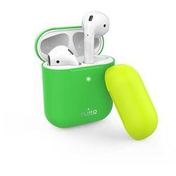 PURO ICON Fluo etui do słuchawek Airpods 1-2 gen (Fluo Green + Fluo Yellow Cap)