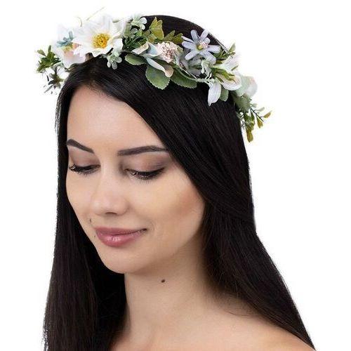 Pozostała biżuteria, Wianek na głowę boho kwiaty panieński ślubny