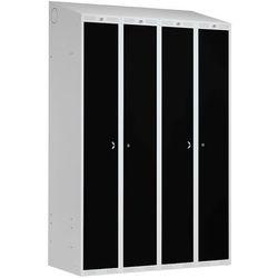 Szafa ubraniowa CLASSIC COMBO, 4 drzwi, 1900x1200x550 mm, czarny