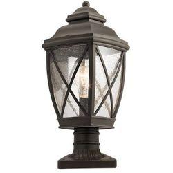 Zewnętrzna LAMPA ścienna TANGIER KL/TANGIER2/M Elstead KICHLER ogrodowa OPRAWA kinkiet na taras IP44 brąz przezroczysty