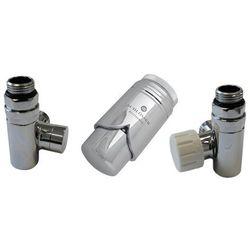 Zestaw zaworów Schlosser przystosowany do montażu grzałki elektrycznej Chrom prawy Rodzaj złączki: Miedź 15x1